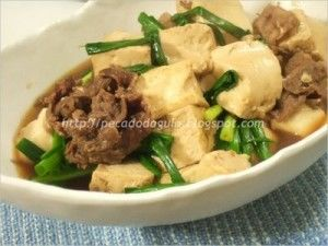 Receita Tofu com Carne