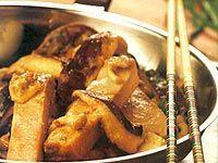 Receita Tiras de Atum com Gengibre e Cogumelos Frescos