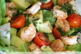 Receita Salada de Abacate com Camarões