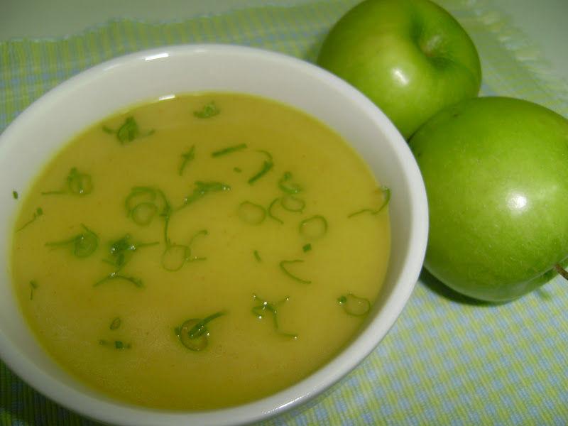 Receita Sopa de Maçã Verde