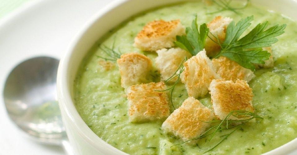 Receita Sopa de Talo de Brócolis