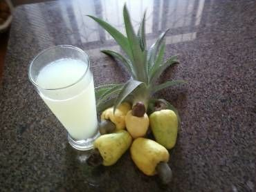Receita Abacaju (suco de Abacaxi e Caju)