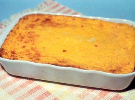 Receita Suflê de Cenoura e Queijo