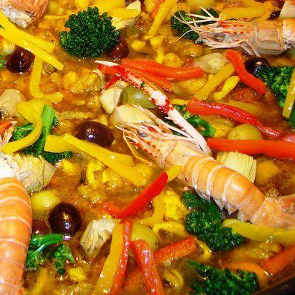 Receita Paella Valenciana