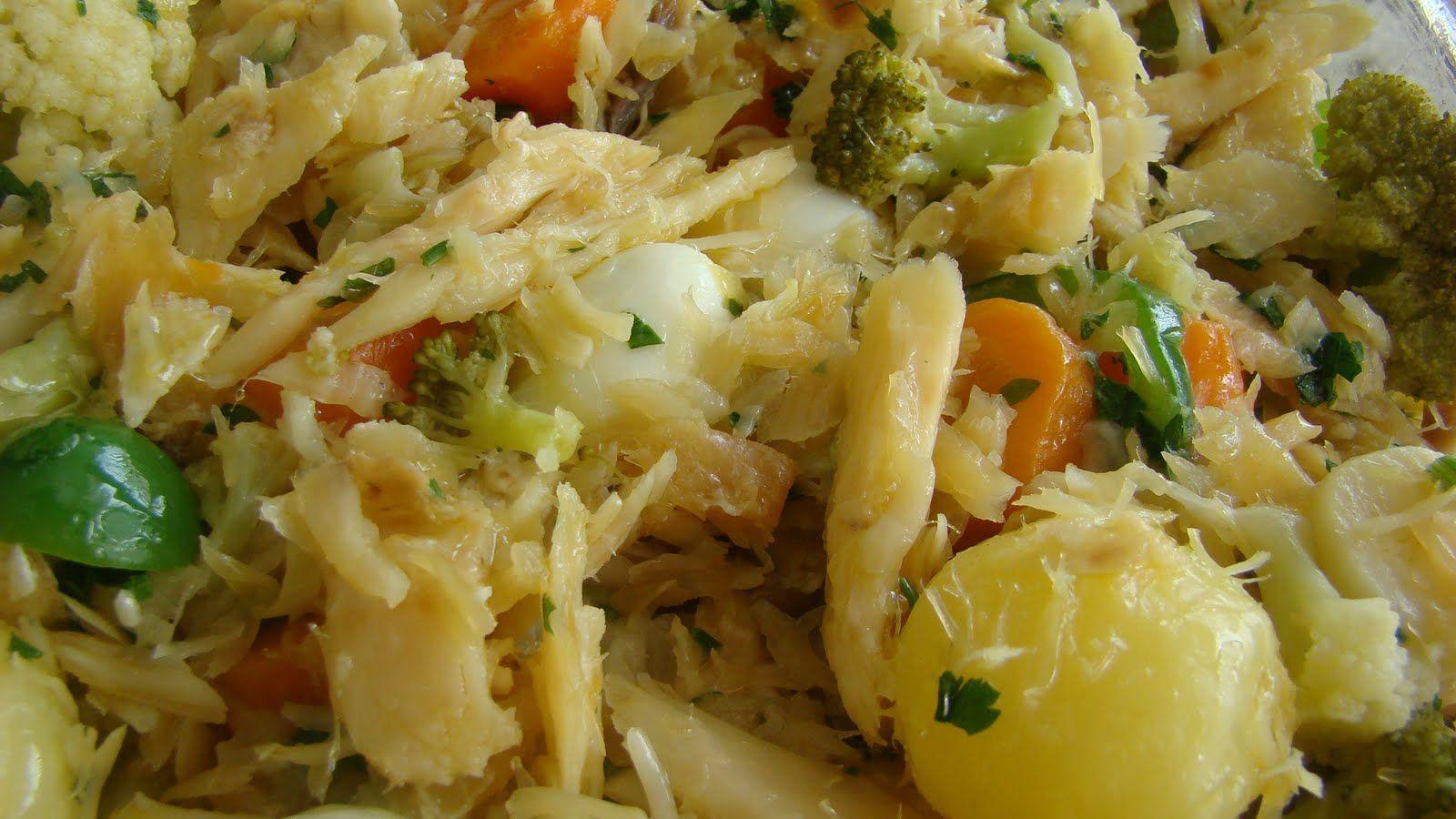 Receita Bacalhau com Legumes
