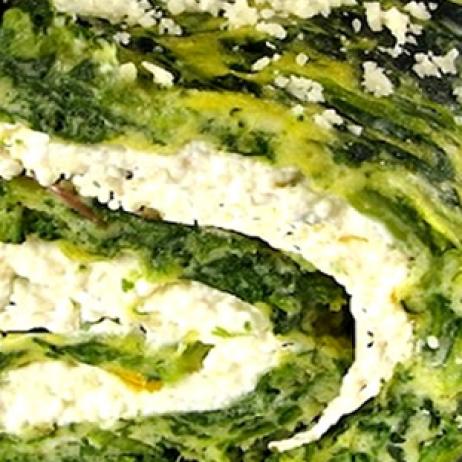 Receita Rocambole de Espinafre e Ricota