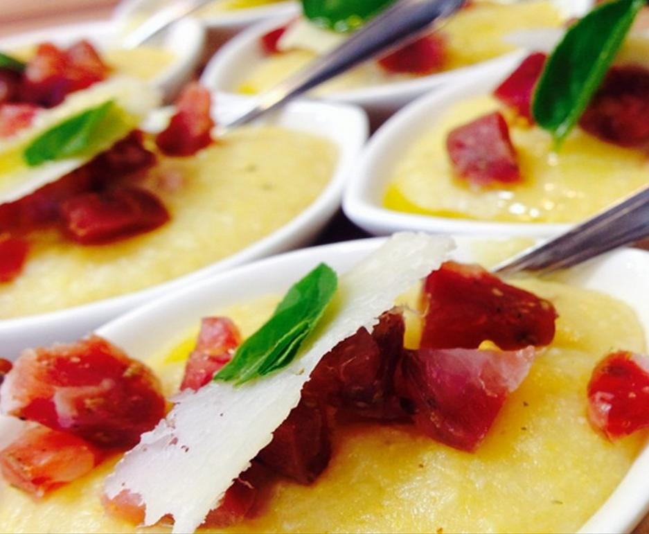 Receita Polenta Mole com Grana Padano e Linguiça Curada