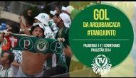 Gol da arquibancada! Palmeiras 1 x 1 Corinthians - Paulistão 2014