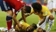 Fratura na vértebra tira Neymar da Copa