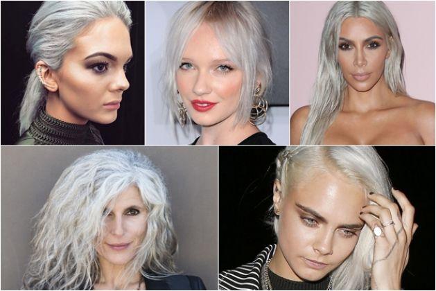Cabelos grisalhos e branco estão na moda