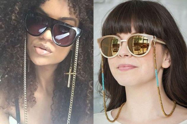 O cordão de óculos volta à moda com tudo