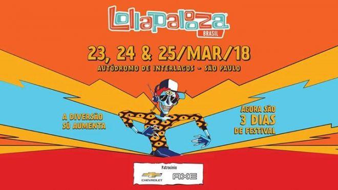Confira a programação do Lollapalooza 2018