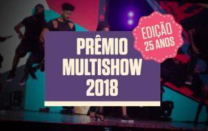 Confira os vencedores do Prêmio Multishow 2018
