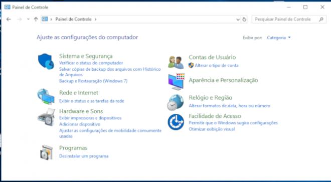 Como resolver bug do Windows que faz Painel de Controle fechar sozinho