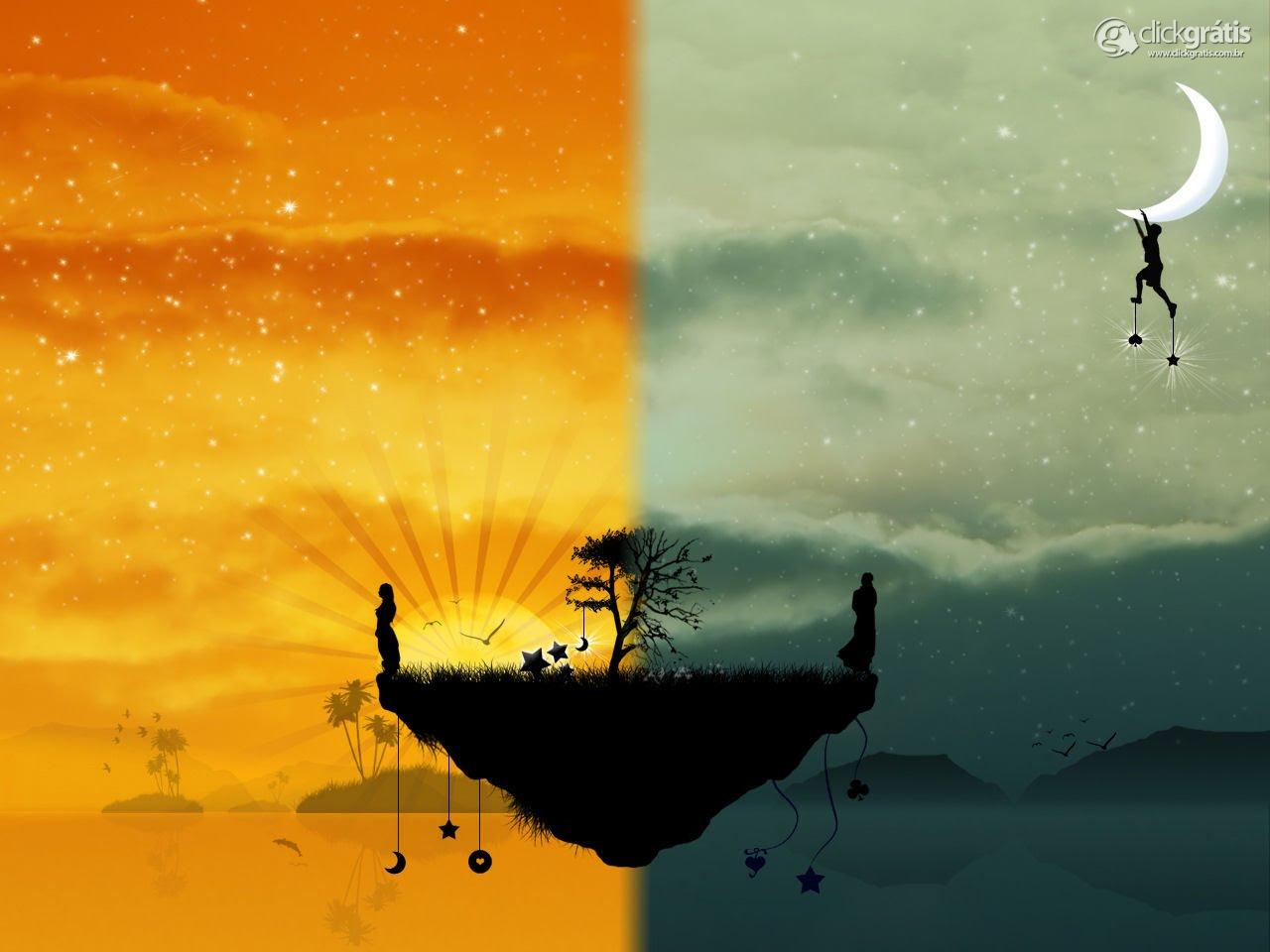 Contraste: Sol e Lua!