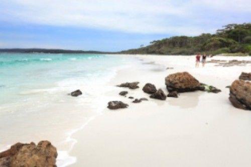 Praia branca de Hyams (Austrália)