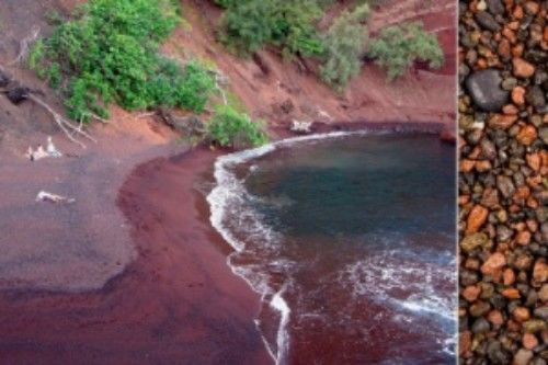 Praia vermelha de Kaihalulu (EUA)