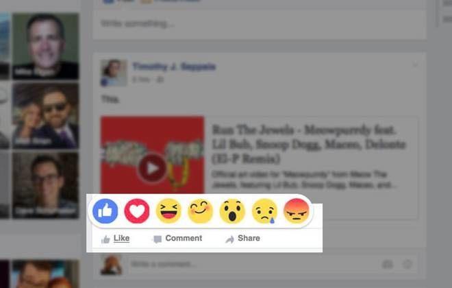 Novos emoticons e botões do Facebook