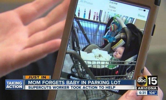 Bebê esquecido no supermercado
