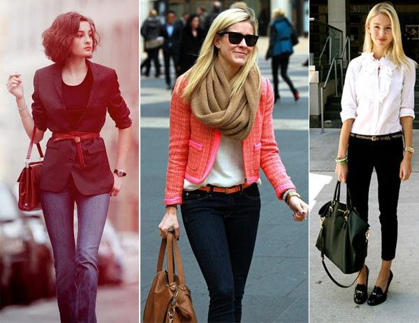 Calças jeans femininas para trabalho