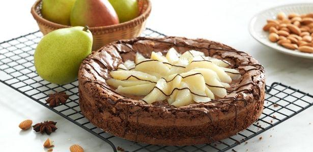 Brownie em forma de torta